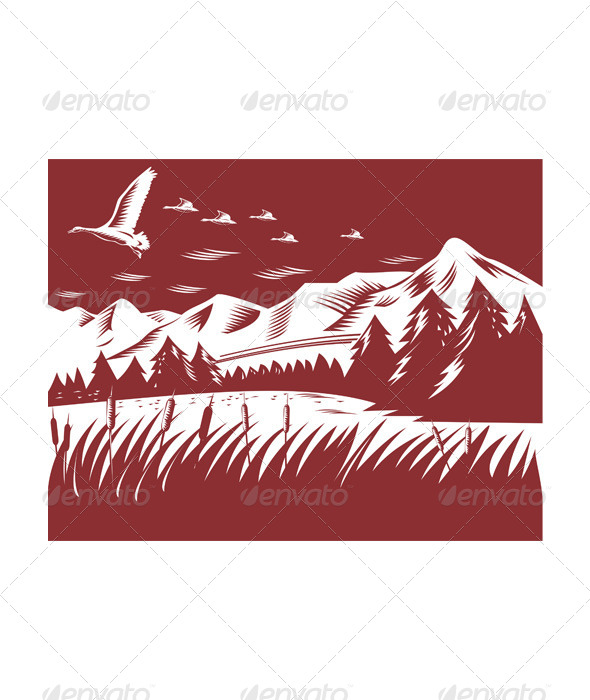 GraphicRiver Mountain Landscape 5407421