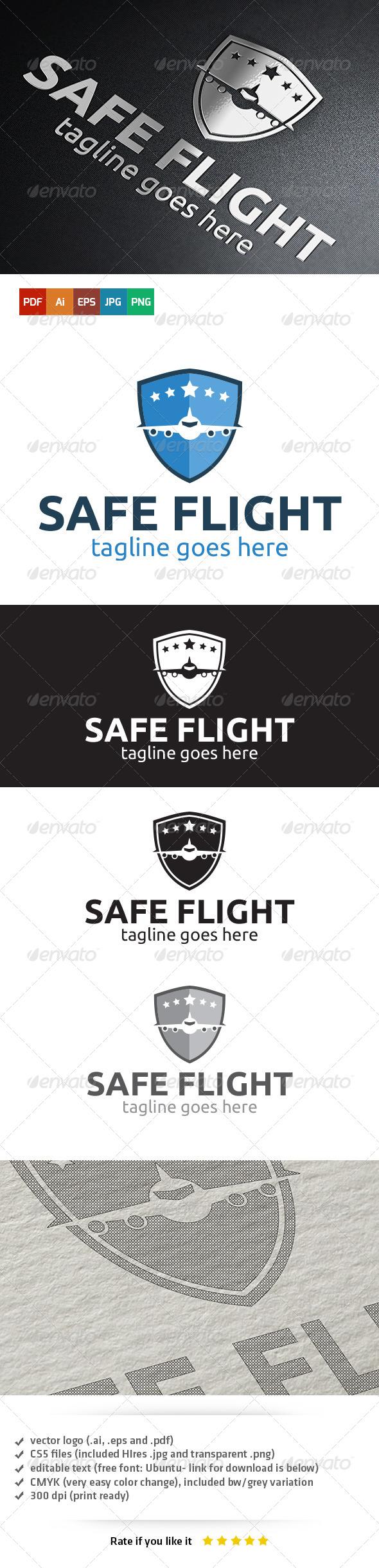 GraphicRiver Safe Flight Logo 5407986