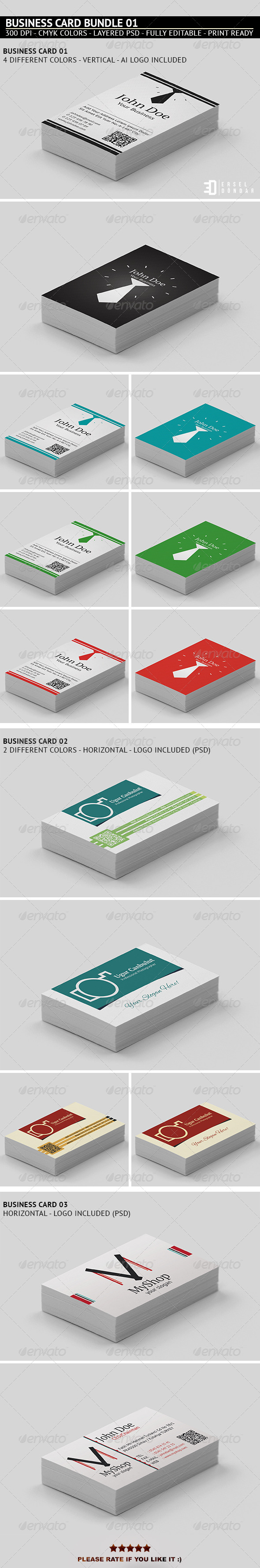 GraphicRiver Business Card Bundle 1 5409708