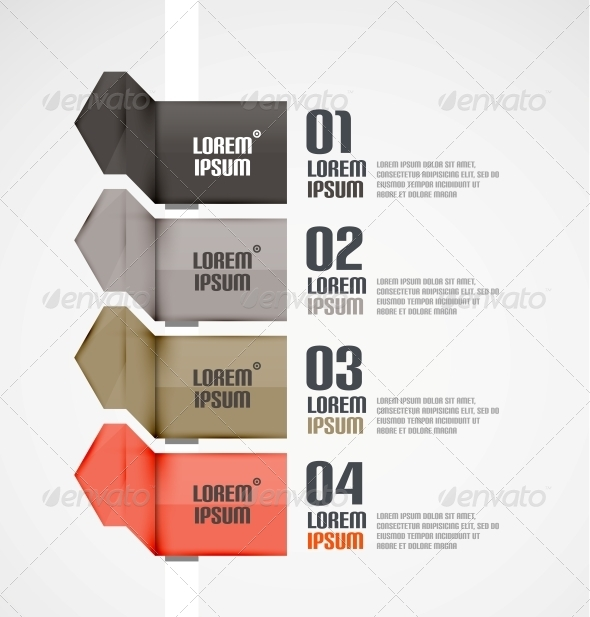 GraphicRiver Modern Ribbons Infographic Background 5409785