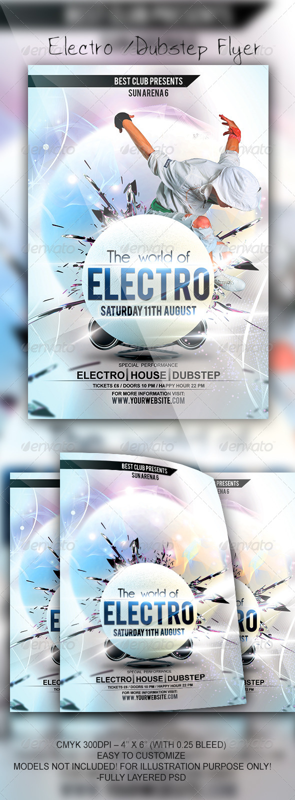 GraphicRiver Electro Flyer Template 5409826