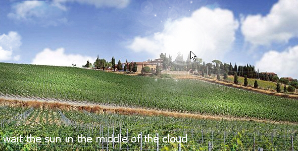 realistic landscape includes sun light and cloud animations with best transparency - ActiveDen Item for Sale