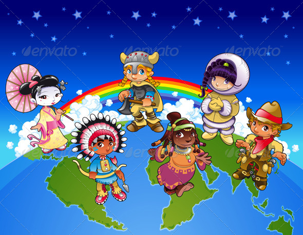 GraphicRiver Kids From All Over the World 5410622