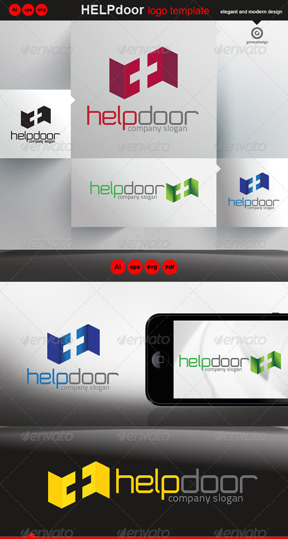 Help Door - Logo Templates