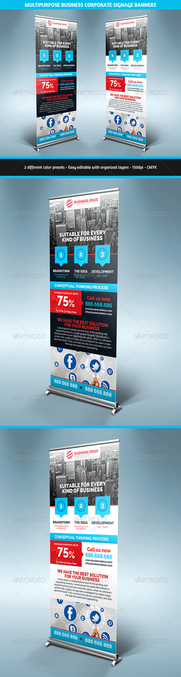 GraphicRiver Multipurpose Corporate Business Signage Banners 5411254