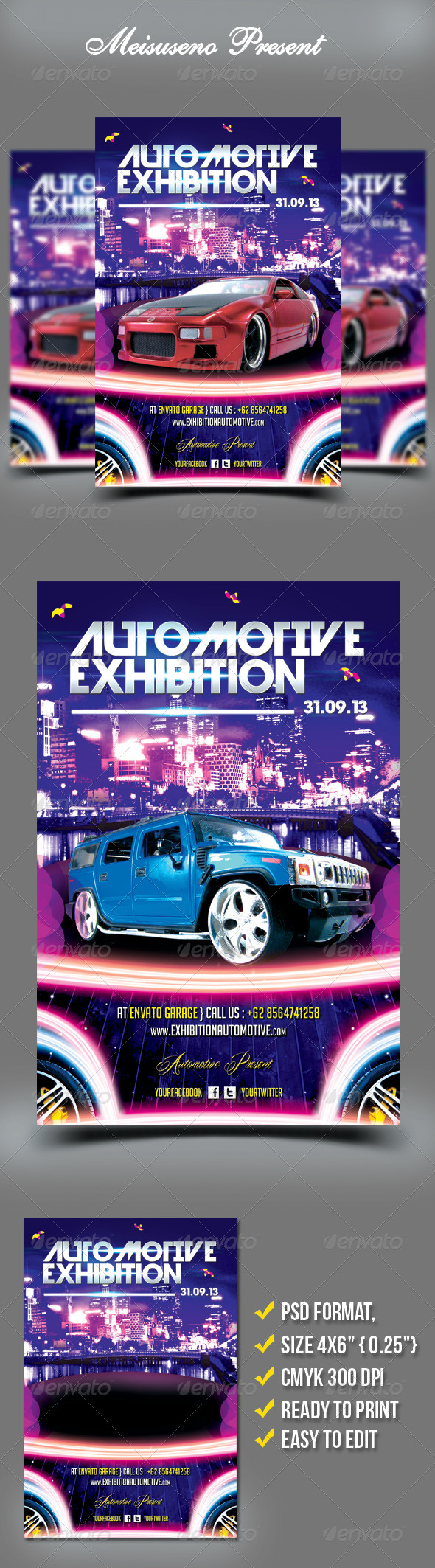 GraphicRiver Automotive Exhibition Flyer Template 5411327