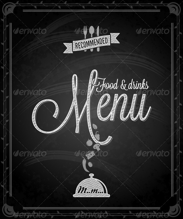 GraphicRiver Chalkboard Frame Food Menu 5412261