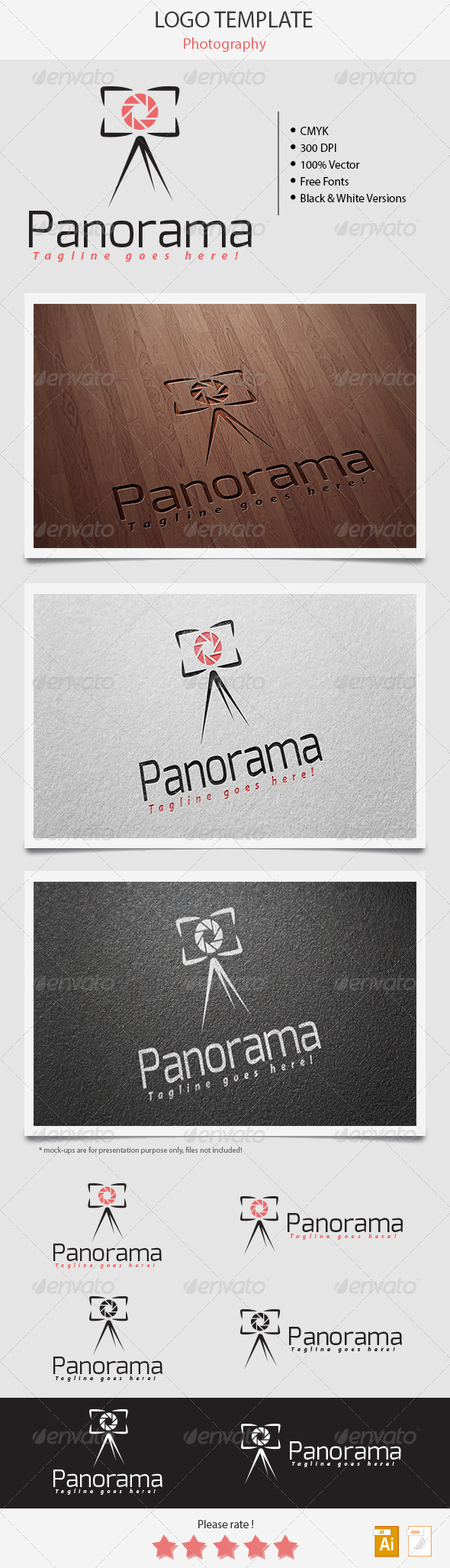 GraphicRiver Panorama Photography Logo 5412267