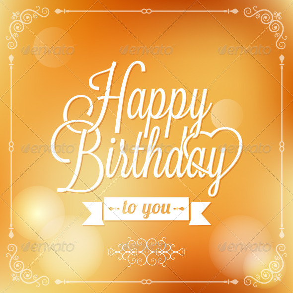 GraphicRiver Holiday Frame Happy Birthday 5412271