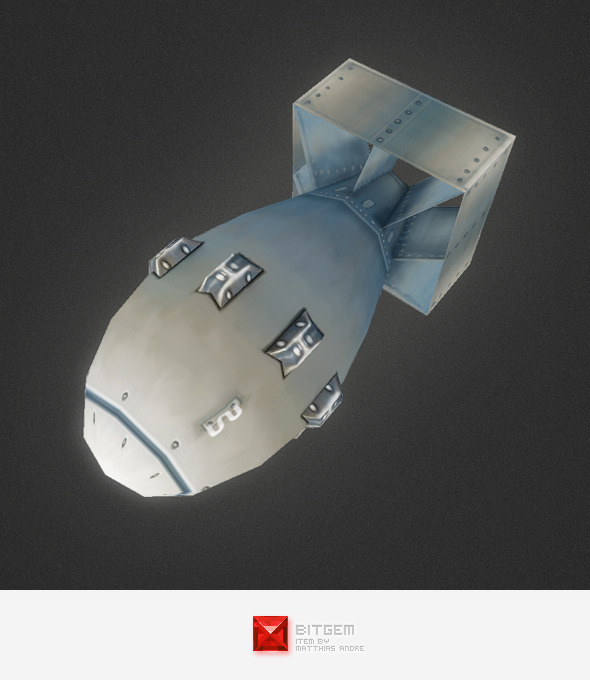 Low Poly A Bomb - 3DOcean Item for Sale