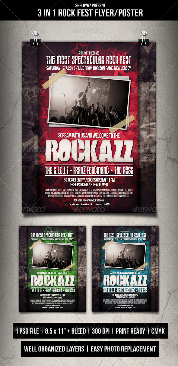 Rock Fest Flyer Poster - Events Flyers