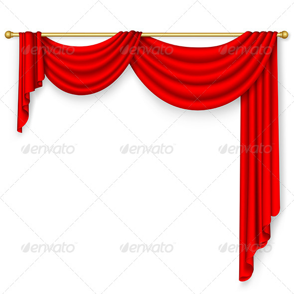 GraphicRiver Red Curtain Mesh 5412795