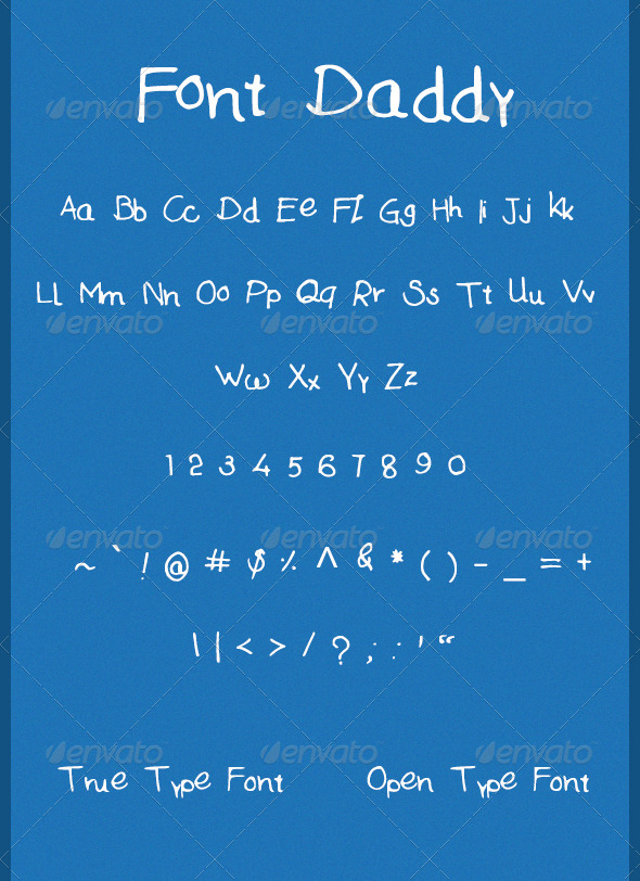 GraphicRiver Font Daddy 5386774