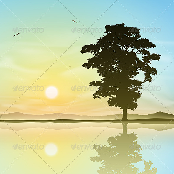 GraphicRiver Lone Tree 5413951