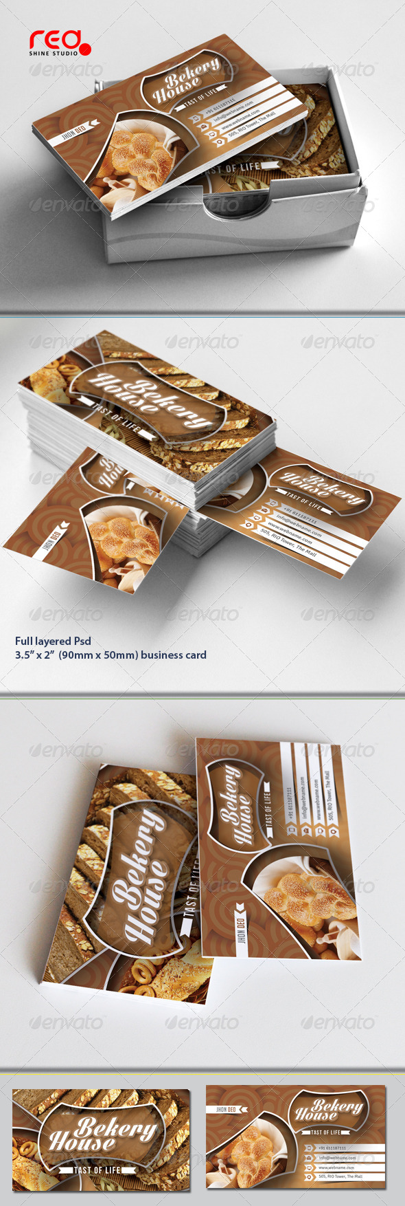 Bekery House Business Card Set - Industry Specific Business Cards