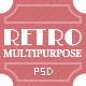 One Page RETRO PSD Template - ThemeForest Item for Sale