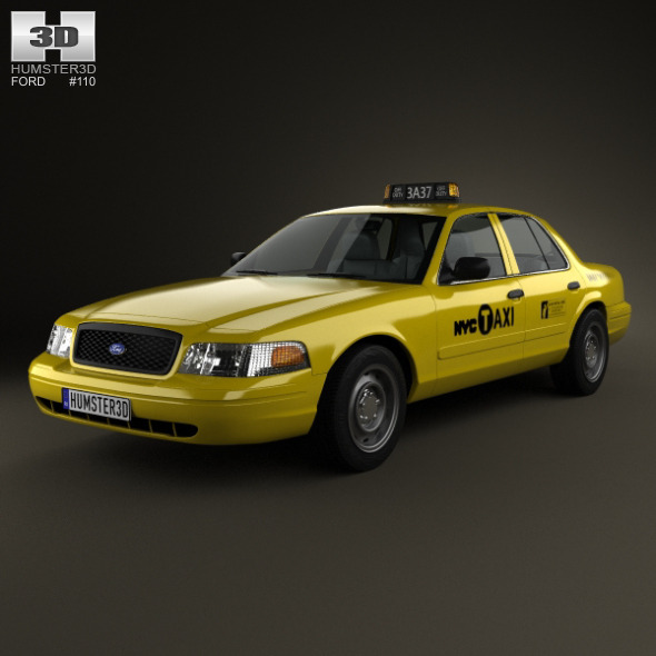 3DOcean Ford Crown Victoria New York Taxi 2005 5414735