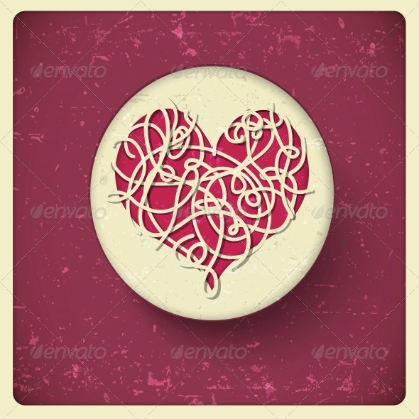 GraphicRiver Heart in Vintage Style 5414825