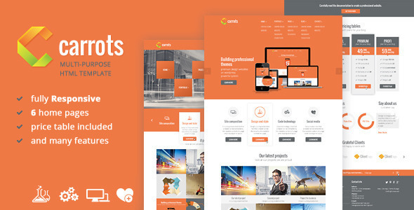 Carrots - Multipurpose Responsive HTML Template