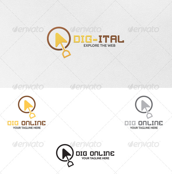 GraphicRiver Online Digging Logo Template 5415685