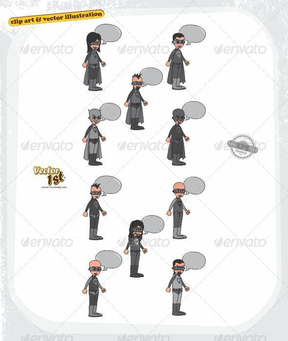 GraphicRiver The Villains 5416126
