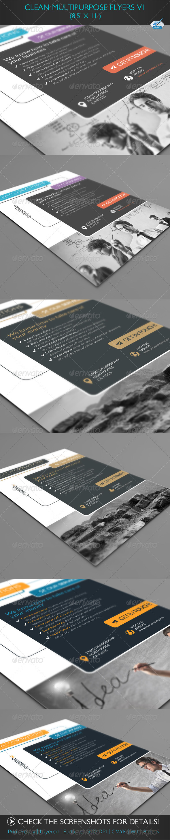 Clean Multipurpose Flyers Vol2 - Corporate Flyers