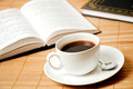Cup of coffee with books - PhotoDune Item for Sale