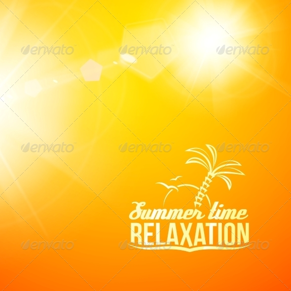 GraphicRiver Blurry Yellow Summer Illustration 5417792