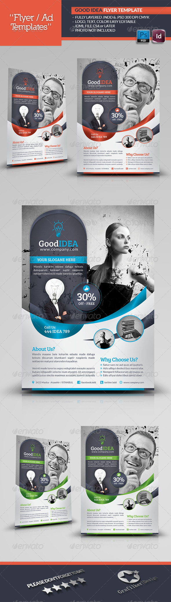Good Idea Flyer Template - Corporate Flyers