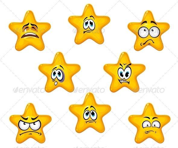 GraphicRiver Emotional Star Icons 5418206