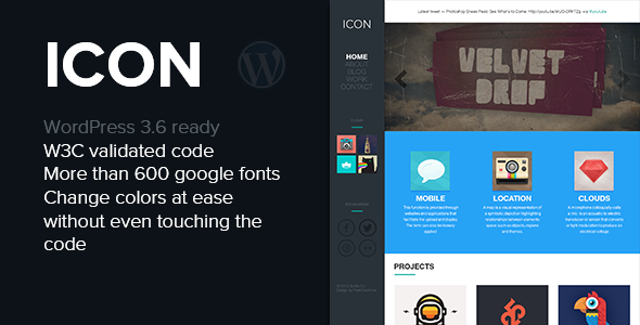 ThemeForest Icon Responsive Blog & Portfolio WordPress Theme 5383227