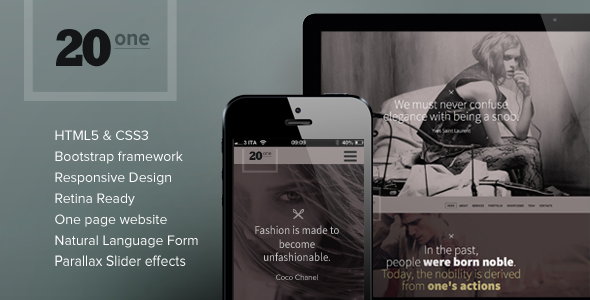 ThemeForest 20one Onepage Responsive Multi Purpose Theme 5412067