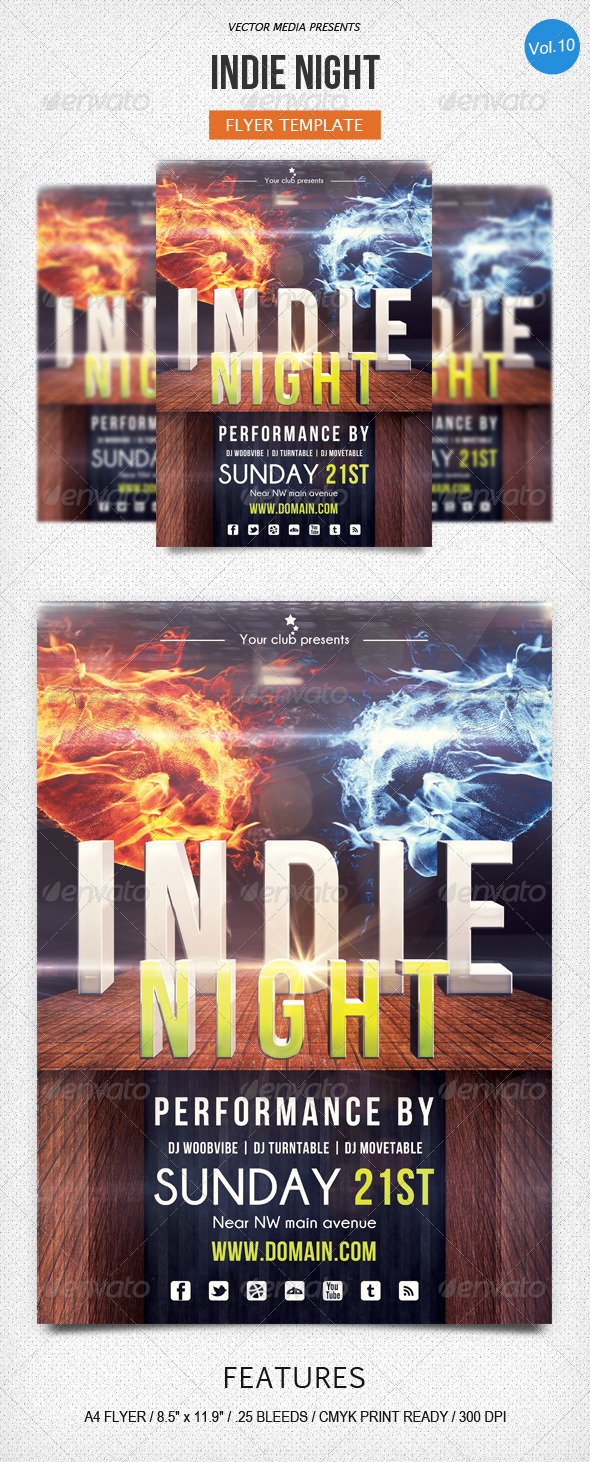 GraphicRiver Indie Night Flyer [Vol.10] 5418331
