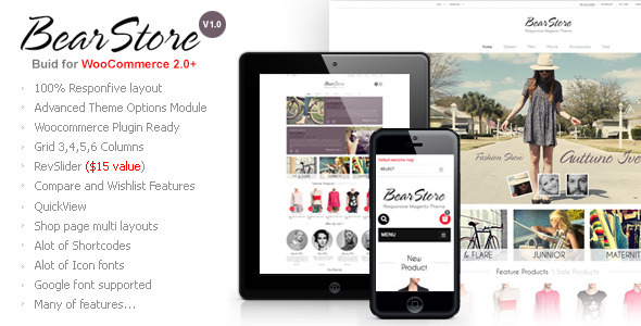 ThemeForest BearStore Multipurpose Ecommerce Theme 5418827