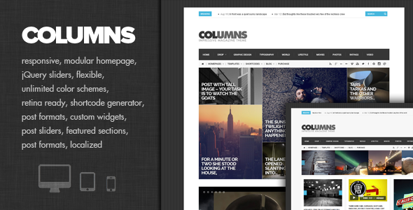 Columns - Impressive Magazine and Blog theme - Personal Blog / Magazine