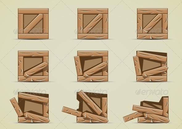 GraphicRiver Simple Broken Boxes 5419588