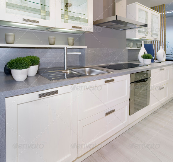 PhotoDune White kitchen 560178