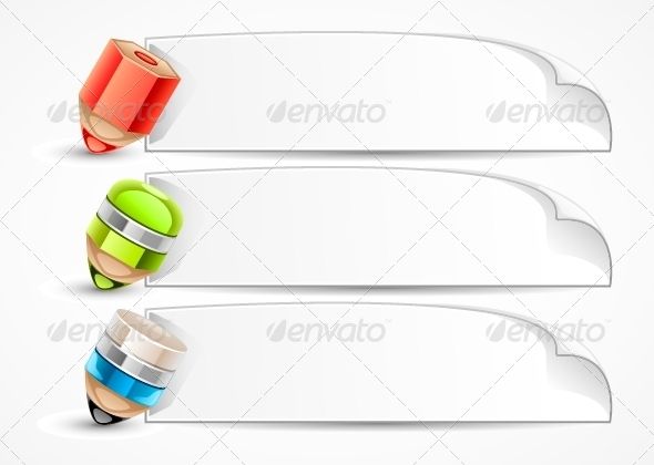 GraphicRiver Banners with Pencils 5419825