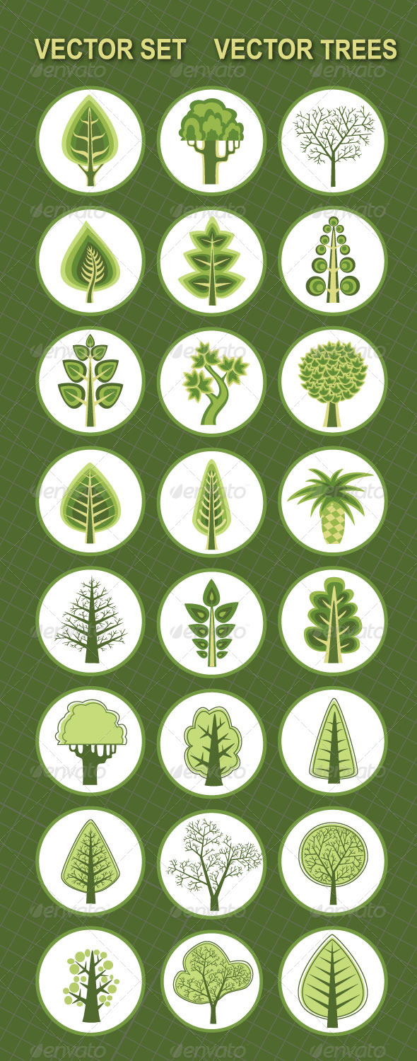 GraphicRiver Vector Trees 5420261