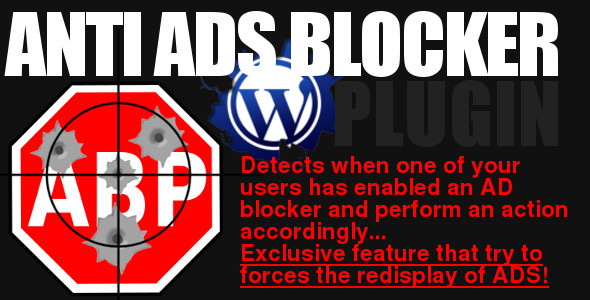 Wordpress plugin of $AADB, the anti ad-blocking system with which you can protect your website against visitors who hides advertisements. This script provides a