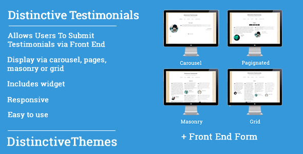 CodeCanyon Distinctive Testimonials Powerful WP Testimonies 5421682