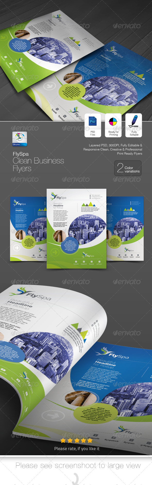 GraphicRiver FlySpa Business Flyer Ad 5422311