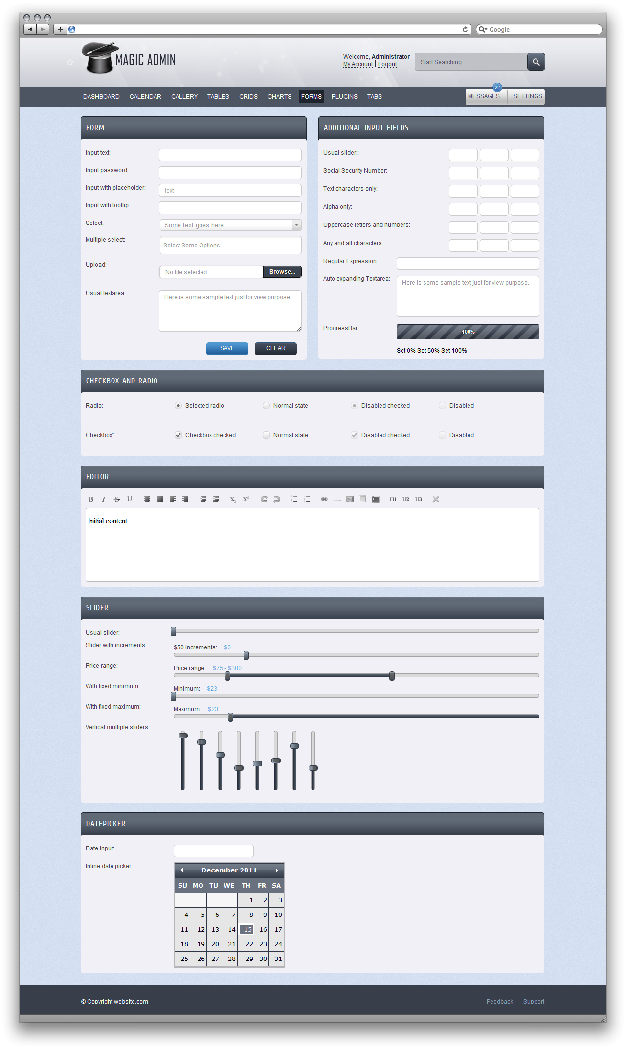 Magic Admin - Admin Premium Template