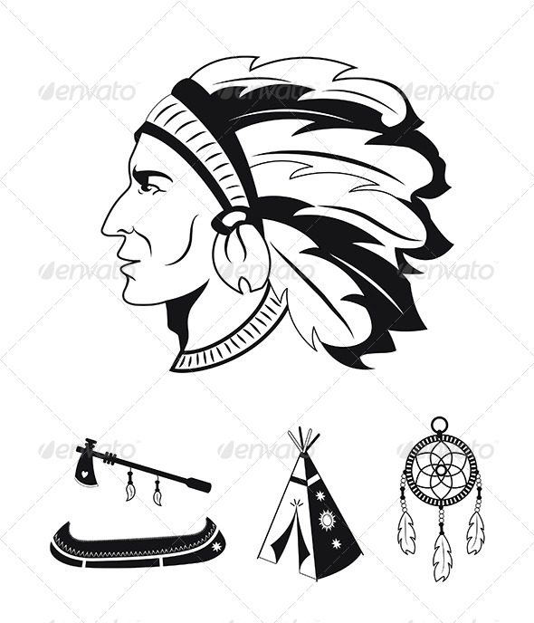 GraphicRiver Native American Icons 5422832