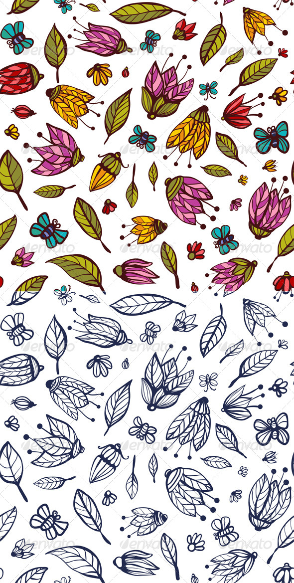 GraphicRiver Flowers Ornament Seamless Pattern 5422961