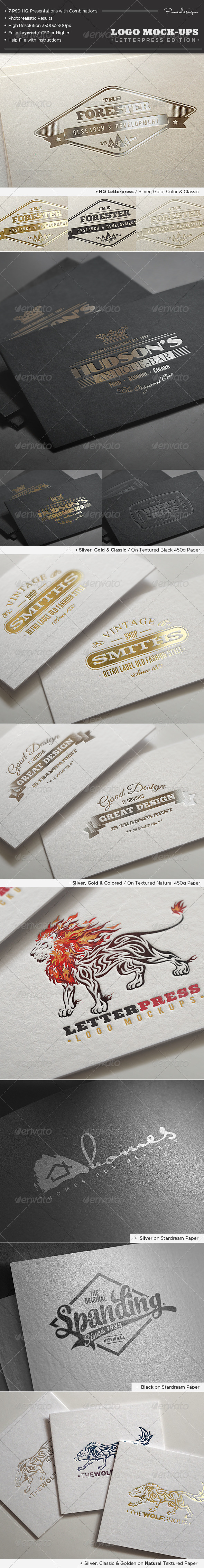 Logo Mock-Ups / Letterpress Edition - Logo Product Mock-Ups