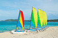 Sail Boats on Tropical Beach - PhotoDune Item for Sale