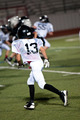 Young american football player on defense. - PhotoDune Item for Sale