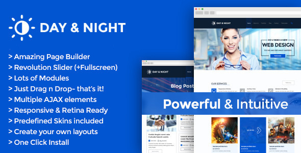 ThemeForest Day & Night Multipurpose Retina WordPress Theme 5417278