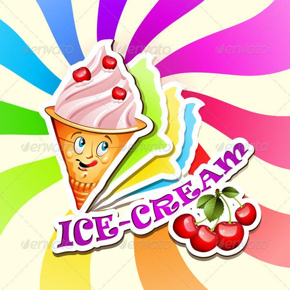 GraphicRiver Cherry Ice Cream 5424516